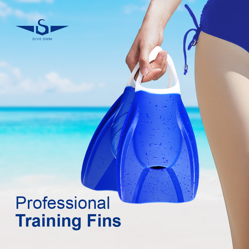 Professional swimming training silicone Fins
